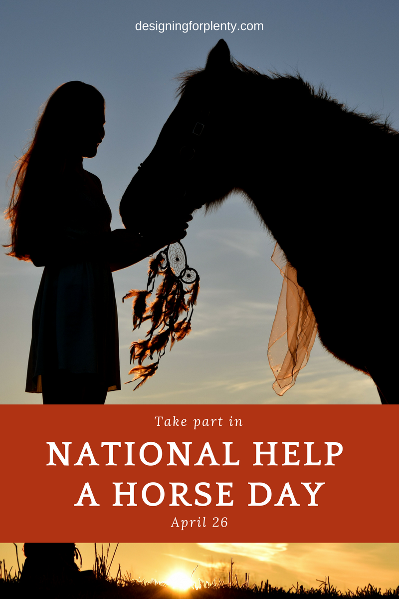 national help a horse day, april 26, horse, helping, volunteer, animal welfare