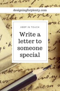 Write a Letter to Someone Special